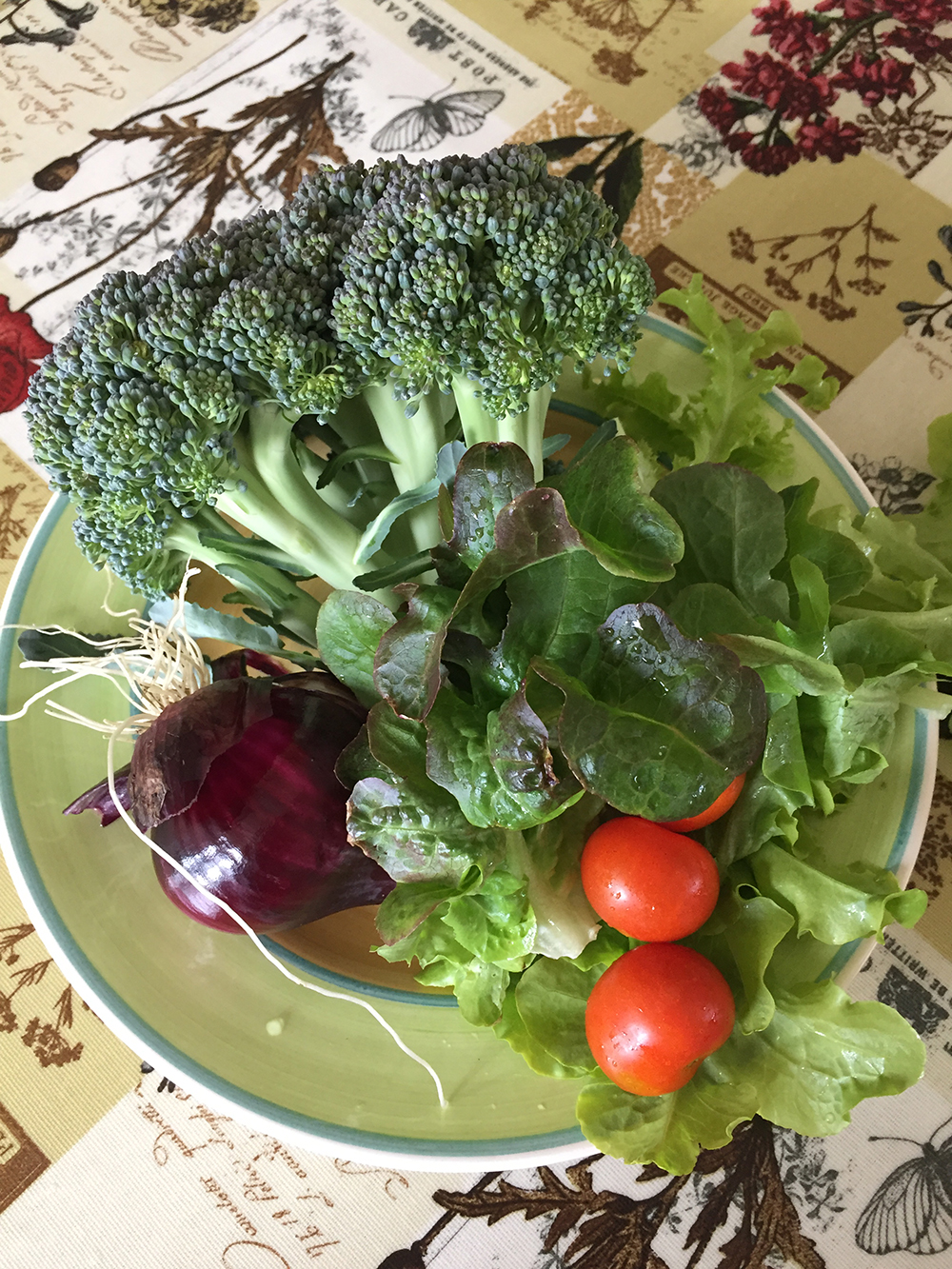 greens from the garden
